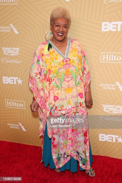 Pounder attends American Black Film Festival Honors Awards Ceremony at The Beverly Hilton Hotel on February 23, 2020 in Beverly Hills, California.