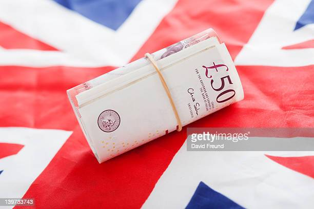 Pounds with UK Flag