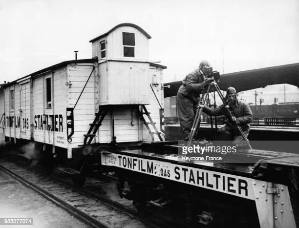 Pour le centenaire du chemin de fer allemand un film réalisé sur une locomotive sera tourné dans toute l'Allemagne ici à Berlin