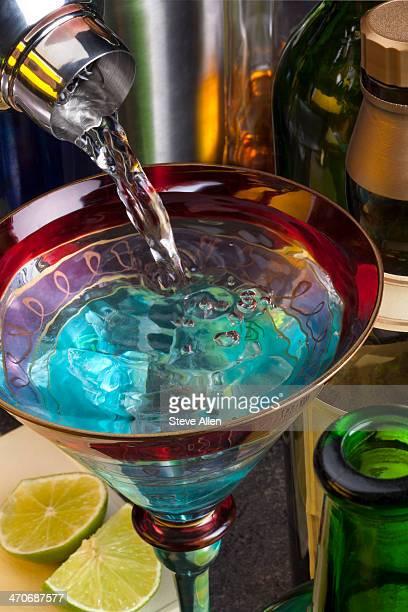 Pouring a Vodka Martini