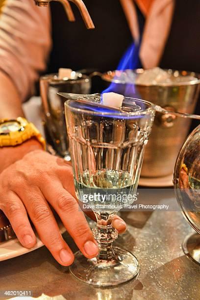pouring absinthe, Bangkok, Thailand