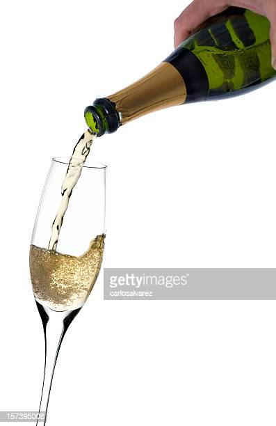 Pouring Champagne w/Clipping Path