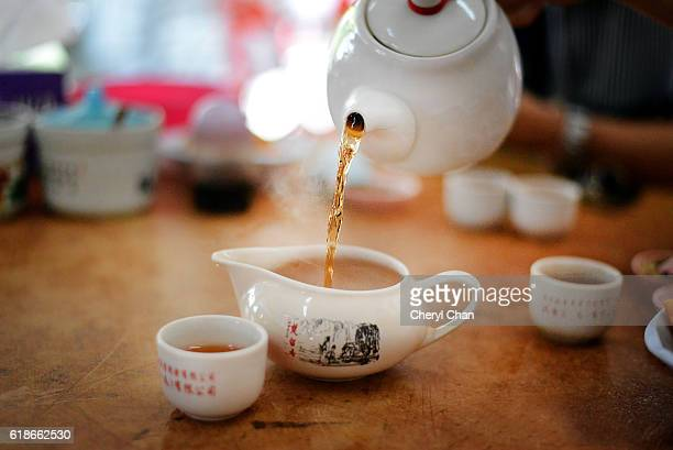 Pouring Chinese Tea