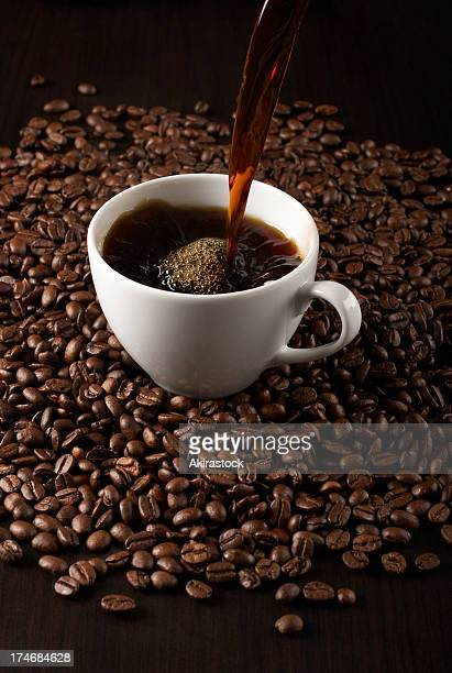 Pouring fresh coffee