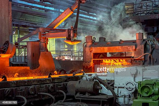 Pouring furnace in hot rolling shop floor