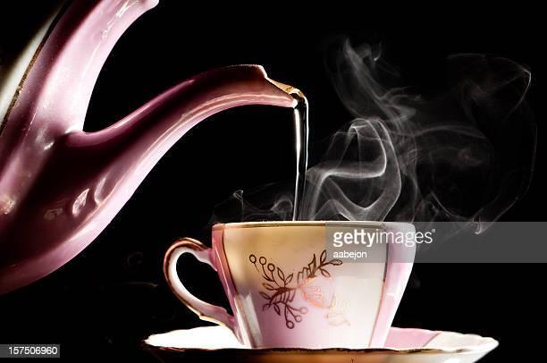 Eingießen Tee