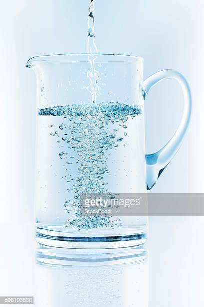 Pouring water into jug