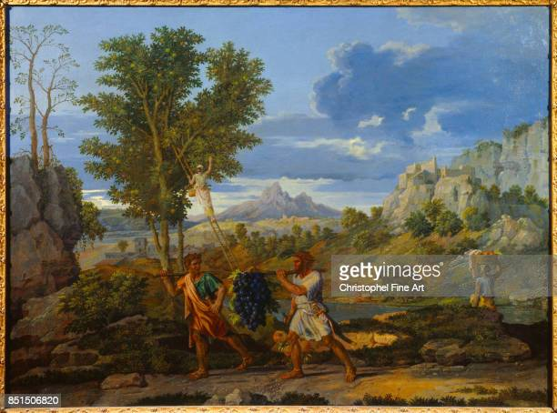 Poussin Nicolas Autumn or The Spies with the Grapes of the Promised Land c16601664 Paris Louvre Museum