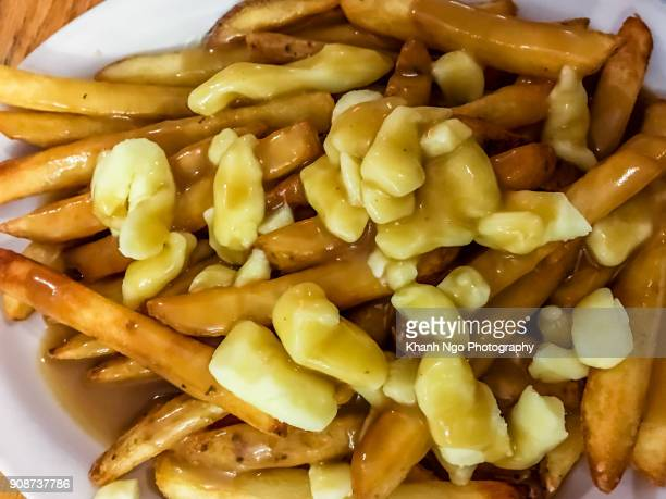 poutine - khanh ngo stock pictures, royalty-free photos & images