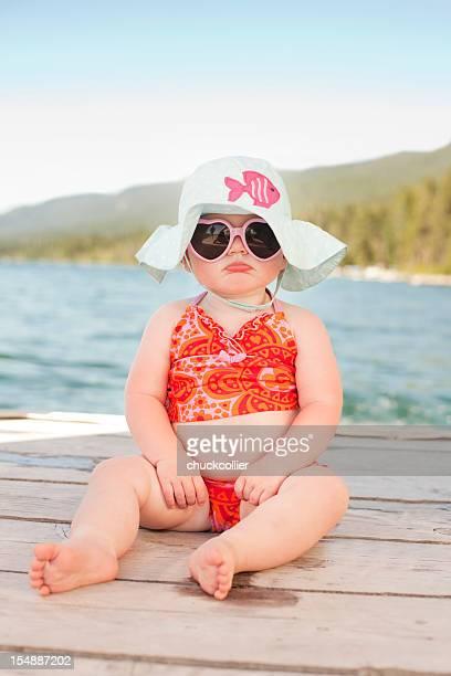Pouting Beach Baby