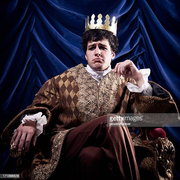 pouting king - king royal person stock photos and pictures