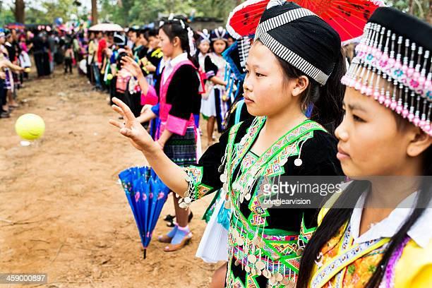 Pov Pob Traditional Hmong Ball Game