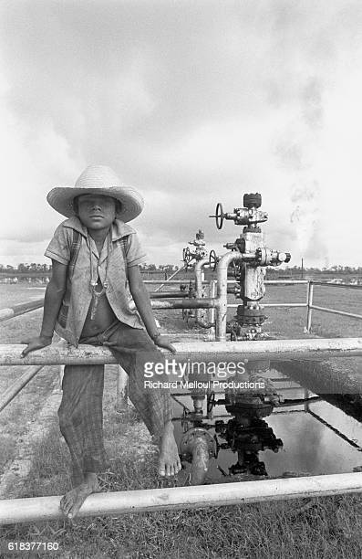 Poverty coexists with rich oil wells in the village of Santa Maria in the Chiapas state of Mexico. The country was one of the world's largest...