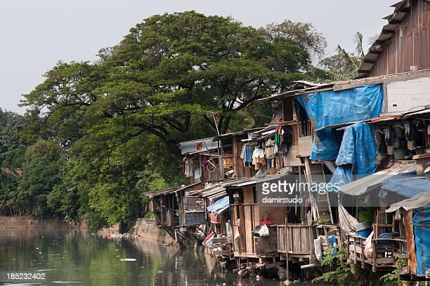 Armut, Hütten Jakarta, Indonesien