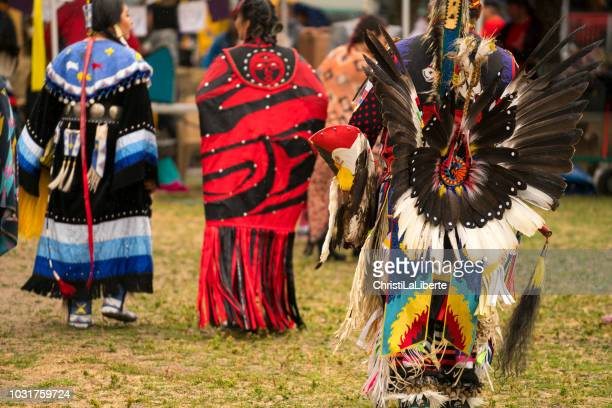 pow wow at oppenheimer park - indigenous culture stock pictures, royalty-free photos & images