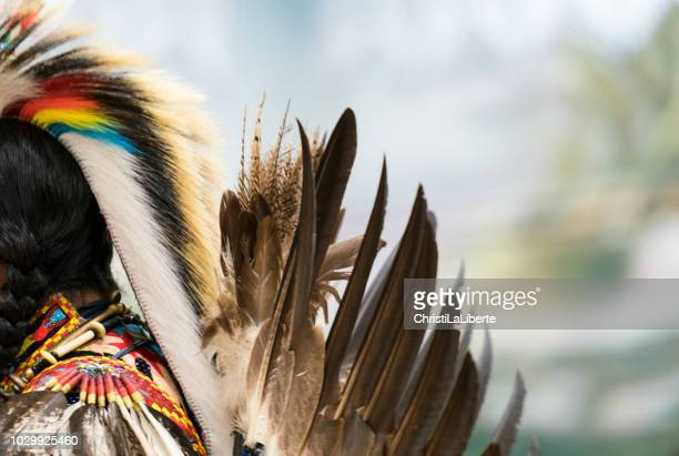 pow wow gathering - first nations stock pictures, royalty-free photos & images