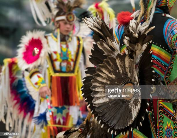 pow wow showcasing youth & talent - first nations stock pictures, royalty-free photos & images