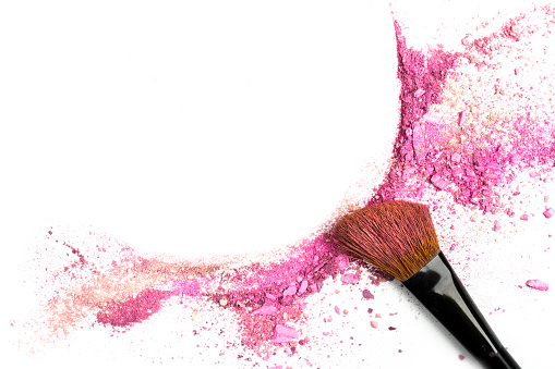 Powder and blush forming frame, with makeup brush 906036252