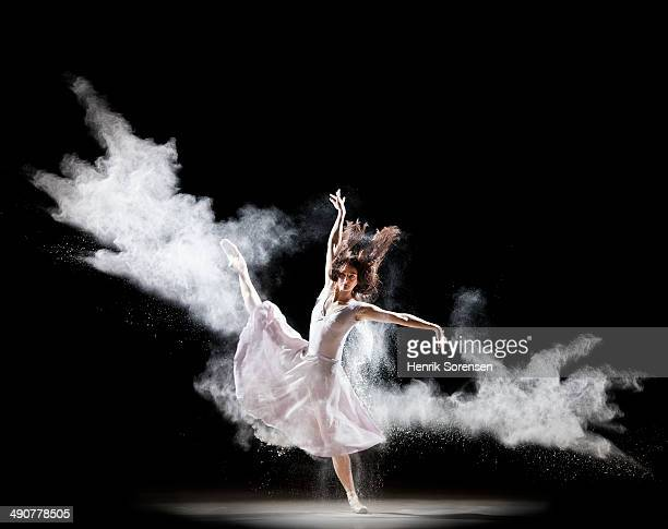 powder ballet - ballet dancer stock pictures, royalty-free photos & images