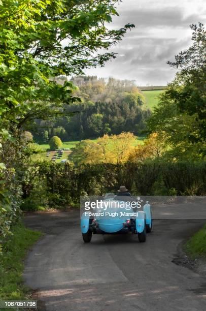 Powder Blue Classic Uphill Racing Sports Car
