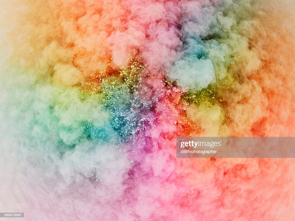 Powder explosion bursting : Stock Photo