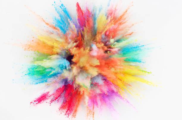powder explosion - 彩色影像 個照片及圖片檔