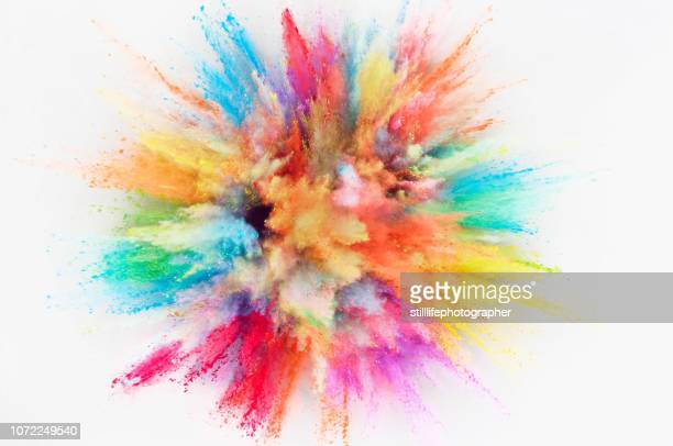 powder explosion - color image stock pictures, royalty-free photos & images