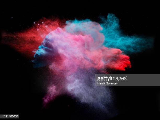 powder explosion - integrated stock pictures, royalty-free photos & images