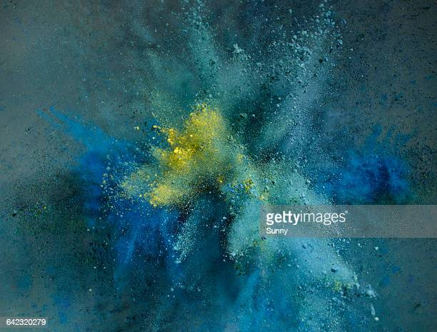 powder explosion - exploding stock pictures, royalty-free photos & images