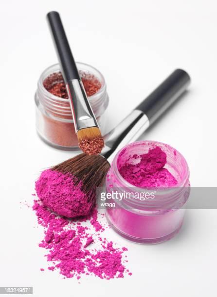 Powder Eyshadow and Makeup Brushes