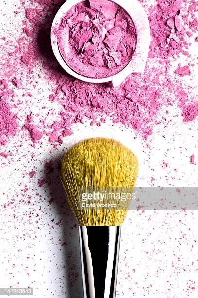 Powder makeup and makeup brush