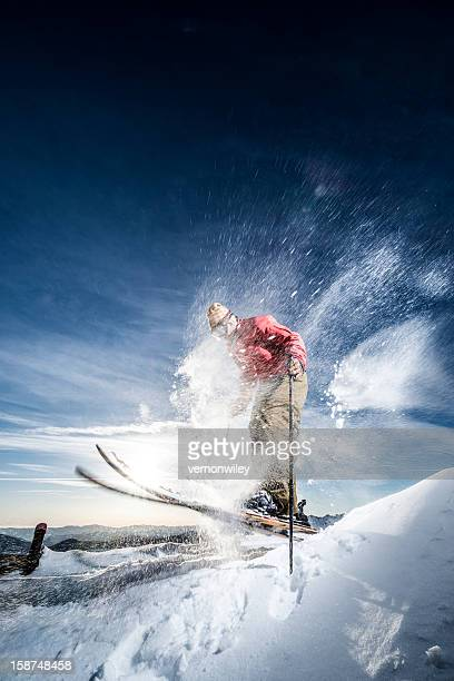 powder - ski pole stock pictures, royalty-free photos & images