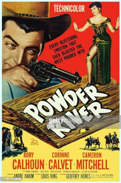 Powder River poster US poster art from left Rory Calhoun Corinne Calvet 1953
