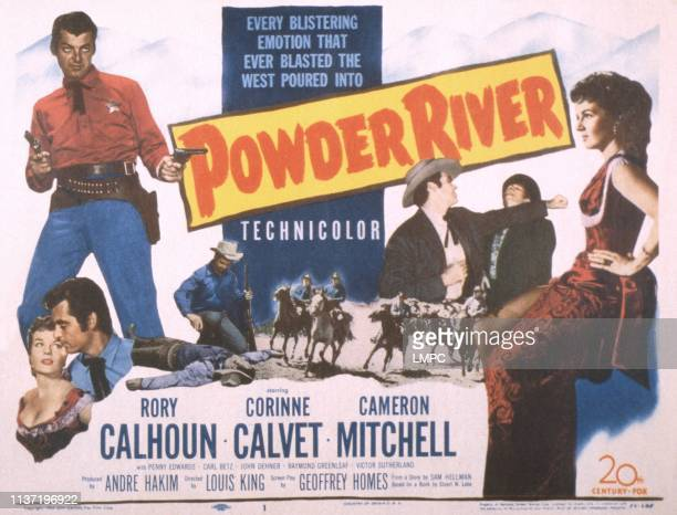 Powder River poster US poster bottom from left Corinne Calvet Rory Calhoun Rory Calhoun Corinne Calvet 1953