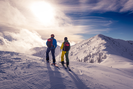 Powder skiing 1080676328