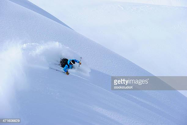 powder turn - aspen colorado stock photos and pictures