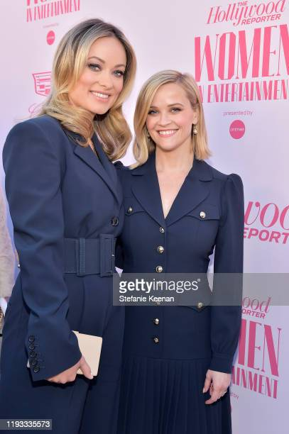 Power 100 Guest Editor Olivia Wilde and honoree Reese Witherspoon attend The Hollywood Reporter's Power 100 Women in Entertainment at Milk Studios on...