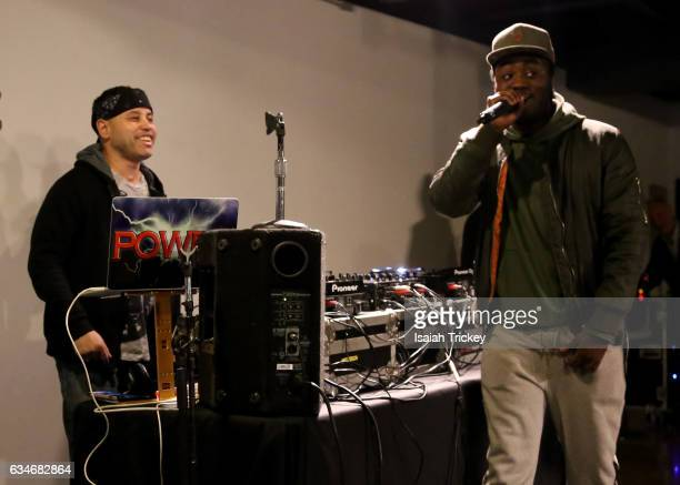 Power and Rapper Rich Kidd perform during 'Woke' a hip hop and soul concert at the Harbourfront Centre on February 10 2017 in Toronto Canada