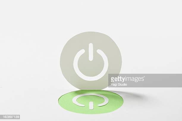 Power button made ??from paper