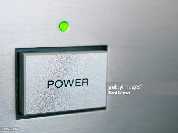power button - bernd schunack stock pictures, royalty-free photos & images