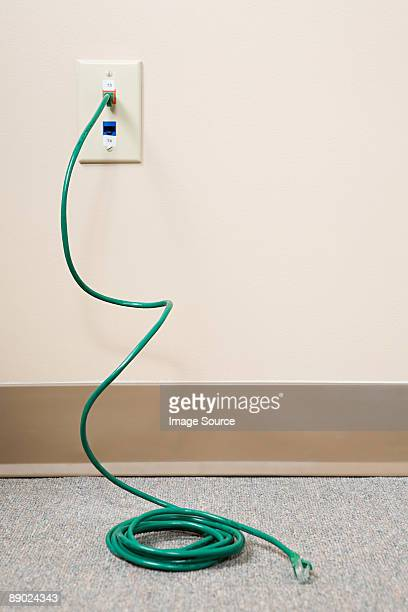 Power cable coming out of socket