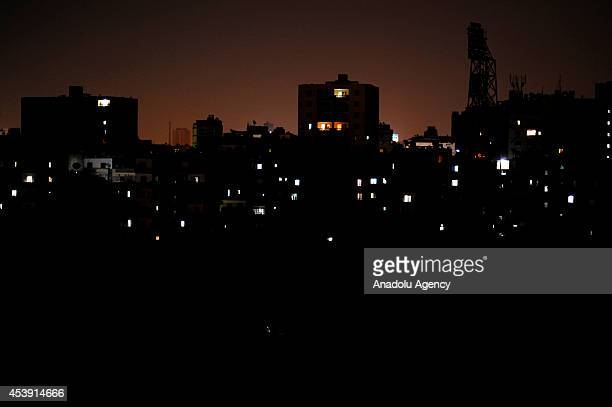 Power cuts affect Egyptian's life negatively in Cairo Egypt on 17 August 2014 Due to power consumption is so high on summer season power cuts...