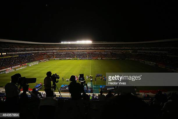 Power failure at the stadium causes a partial suspension of the game during a match between Queretaro and Monterrey as part of 7th round Apertura...
