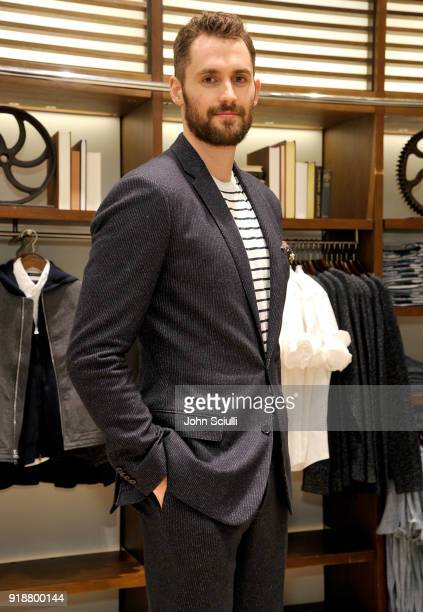 Power Forward Kevin Love and Banana Republic kick off All Star Weekend and celebrate their partnership at The Grove on February 15 2018 in Los...