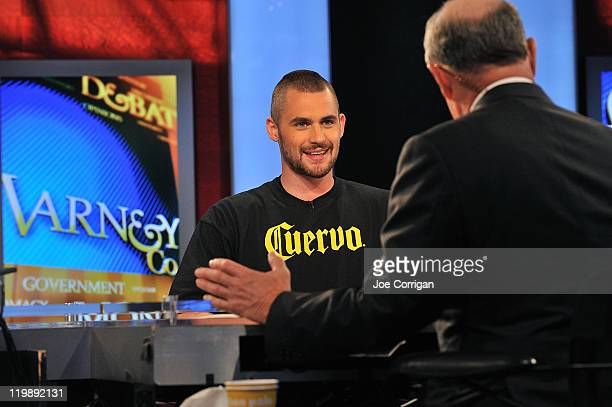 NBA power forward Kevin Love speaks with Fox business anchor Stuart Varney during FOX Business at FOX Studios on July 26 2011 in New York City