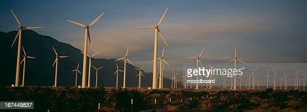 Power generating windmills in remote area