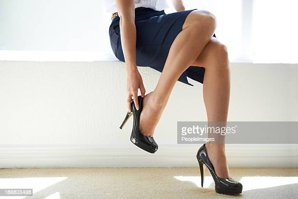 power heels - beautiful female feet stock photos and pictures