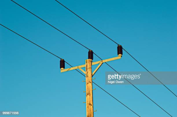 power line - nigel owen stock pictures, royalty-free photos & images