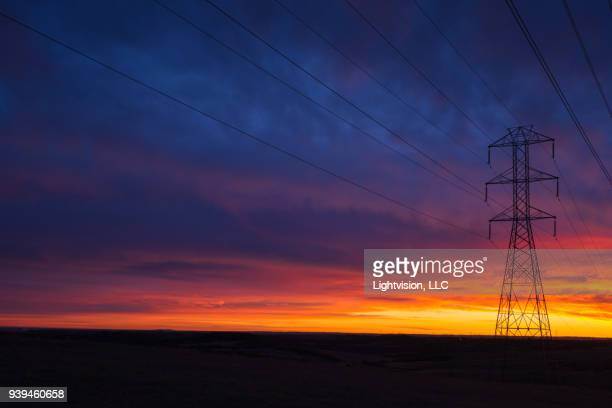 Power Line with Beautiful Sky