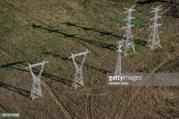 Power lines, Eastern Creek, Western Sydney, Aerial Photography